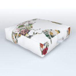 Vintage Botanical World Outdoor Floor Cushion