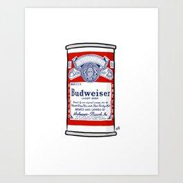 Vintage Bud Heavy Art Print