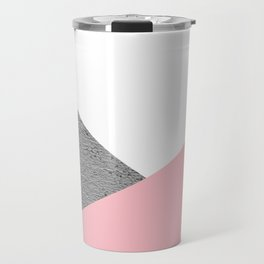 Concrete vs pink geometrical Travel Mug