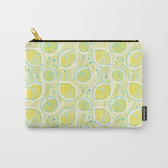 Atomic Lemonade_Green and Cerulean Carry-All Pouch