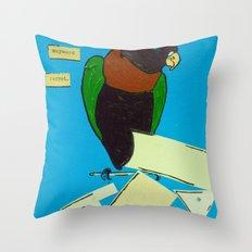 The Wayward Parrot  Throw Pillow