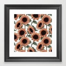 terracotta sunflowers Framed Art Print