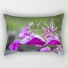 Indian Balsam Bokeh on the banks of the River Tay in Scotland Rectangular Pillow