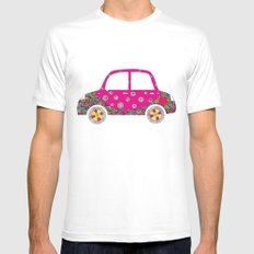 Colorful car Mens Fitted Tee White MEDIUM