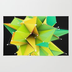 Polygons green Abstract Rug