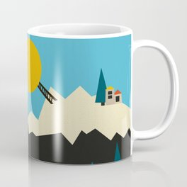 A Sunny Winter Day in the Mountain Village Coffee Mug