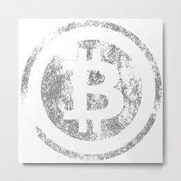Vintage Bitcoin logo Metal Print