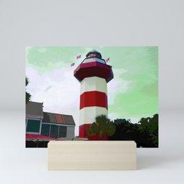 Harbour Town - Hilton Head, South Carolina - candy cane lighthouse - modern nautical photography art Mini Art Print