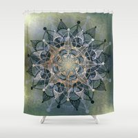 chakra Shower Curtains featuring Heart Chakra by brenda erickson