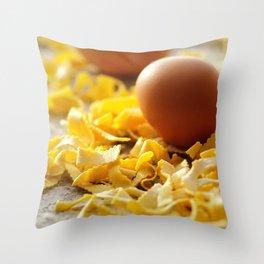Fresh italian Pasta with egg Throw Pillow