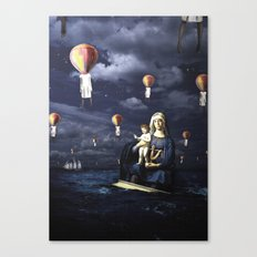 Madonna with Child (on the high sea) Canvas Print