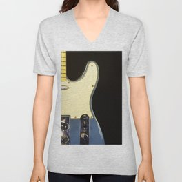 Electric Guitar study in Blue Unisex V-Neck