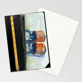 NYC Water Towers Painted on subway fare card Stationery Cards