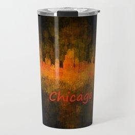 Chicago City Skyline Hq v4 Travel Mug