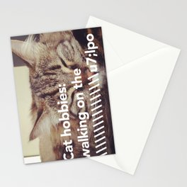 Cat Hobbies Stationery Cards