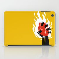 indiana jones iPad Cases featuring Indiana Jones and the Temple of Doom Minimal Movie Poster by Sausage Chowder