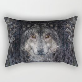 The Winter is here - Wolf Dreamcatcher Rectangular Pillow