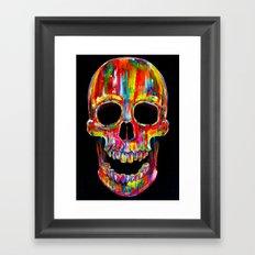Chromatic Skull Framed Art Print