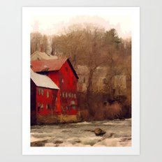 Old Red Mill Art Print
