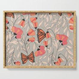 Monarch garden 001 Serving Tray