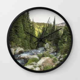 End of the Day at the Top of Myrtyle Falls Wall Clock