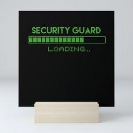 Security Guard Loading Mini Art Print
