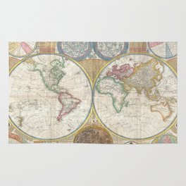 Vintage Map of The World (1794) Rug