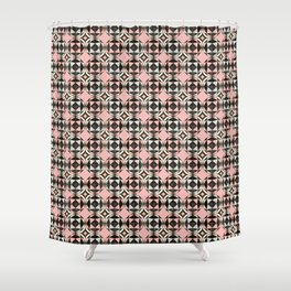 Geodesic Optic Roses Shower Curtain