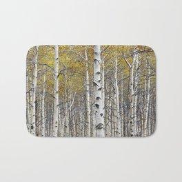Birch Trees in Autumn Bath Mat