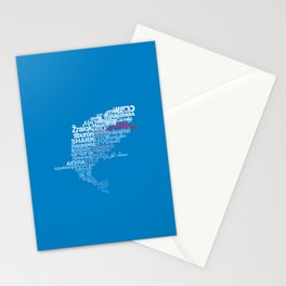 Shark in Different Languages Stationery Cards