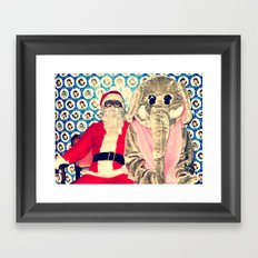 Awkward Couple Framed Art Print
