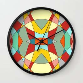 Retro Colored Mandala Wall Clock