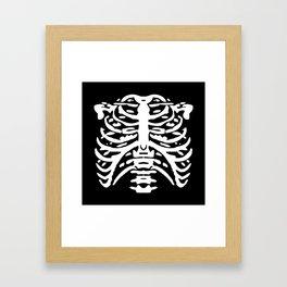 Human Rib Cage Pattern Black and White 2 Framed Art Print