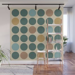 Mid Century Modern Polka Dot Pattern 437 Wall Mural