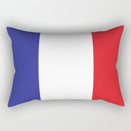 French Flag Blue White Red Francophile France Print Rectangular Pillow