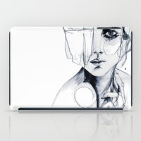 sale iPad Cases featuring Sketch V by Holly Sharpe