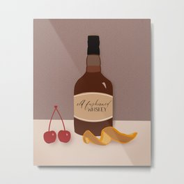 Old Fashioned Whiskey  Metal Print