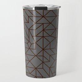 Masculine Geometric Patterns | Modern | Minimalist Travel Mug