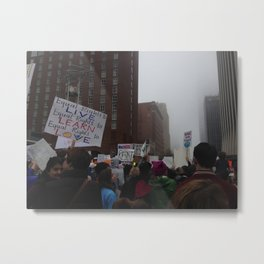 Women's March on Raleigh Metal Print