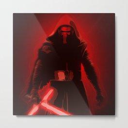 Kylo Ren - The Force Awakens - Digital Art Metal Print