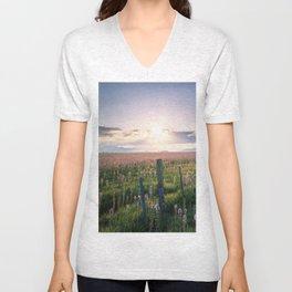 Camas Marsh Sunrise Unisex V-Neck