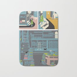 Bookstore cats Bath Mat