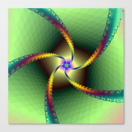 Whirligig in Green Canvas Print