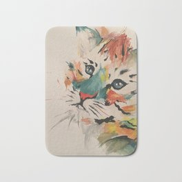 Water color baby tiger Bath Mat