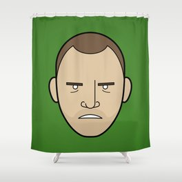 Faces of Breaking Bad: Jesse Pinkman (Angry) Shower Curtain