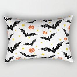 Halloween Pumpkins And Bats Rectangular Pillow