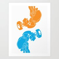 glados Art Prints featuring GLaDOS  by mycroftismight