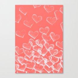 Pretty Hearts lachs Canvas Print