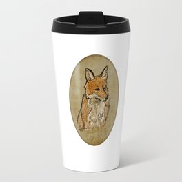 A Solemn Fox Portrait Travel Mug