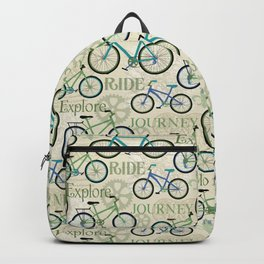 Bicycle Journey Blue Backpack